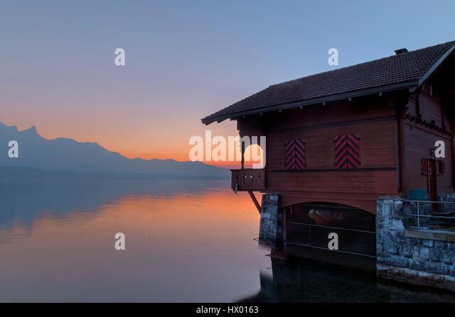 Lake Thun, Niesen, Berne, Switzerland, Europe - Stock-Bilder