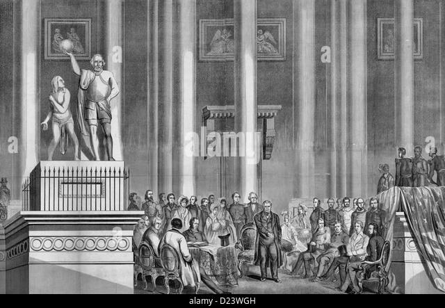 The Inauguration of Zachary Taylor - 1849 - Stock-Bilder