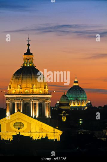 St. Peter's & Basilica del St. Ambroglio, Rome, Italy - Stock Image