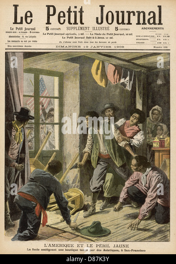 Race Riots San Francisco - Stock Image