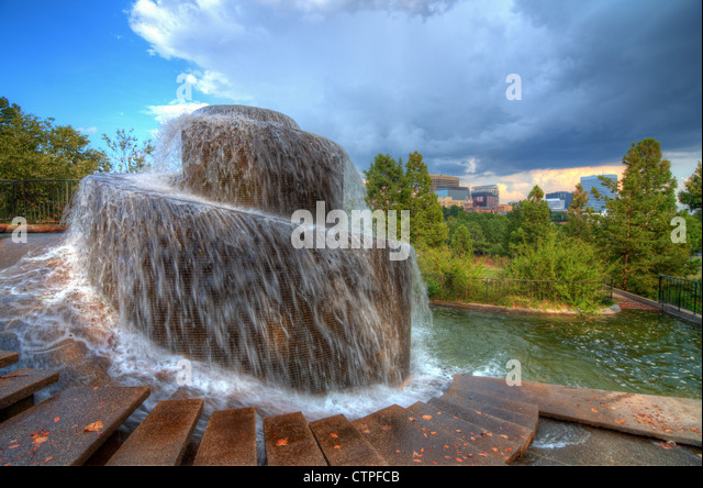 Finlay Park Fountain in Columbia, South Carolina, USA - Stock Image