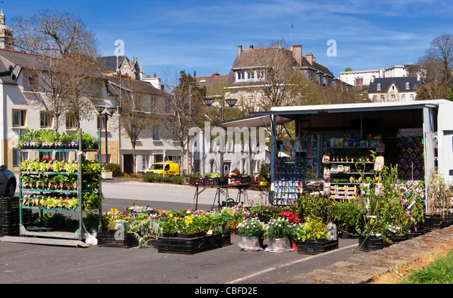 Market stall france brittany stock photos market stall - Office du tourisme chateauneuf du faou ...