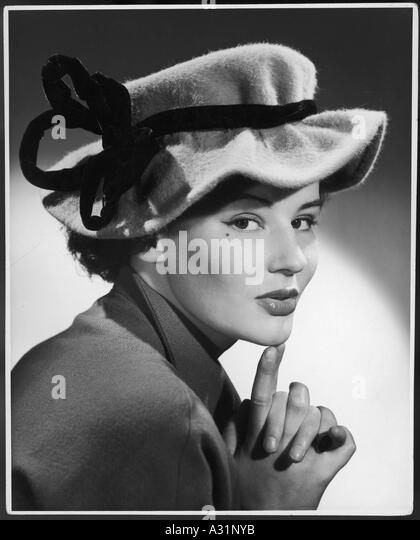 Fashionable 1950s Hat - Stock Image