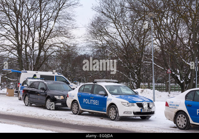 Estonian Police - Stock Image
