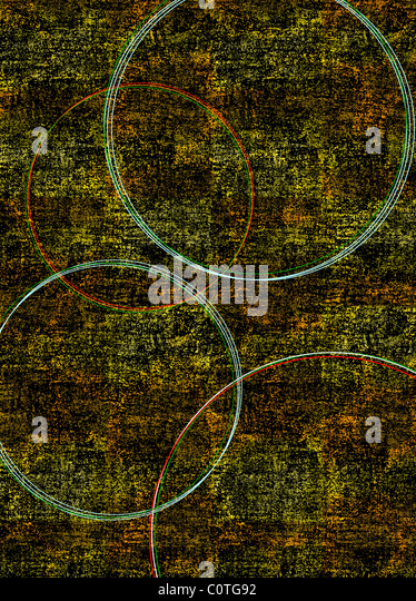 Circles on Gold Backgrounds - Stock-Bilder
