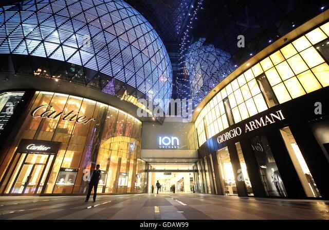 Asien, Suedostasien, Singapur, Orchard Road, ION, Einkaufszentrum, Shopping,   Die Architektur des Einkaufszentrum - Stock-Bilder