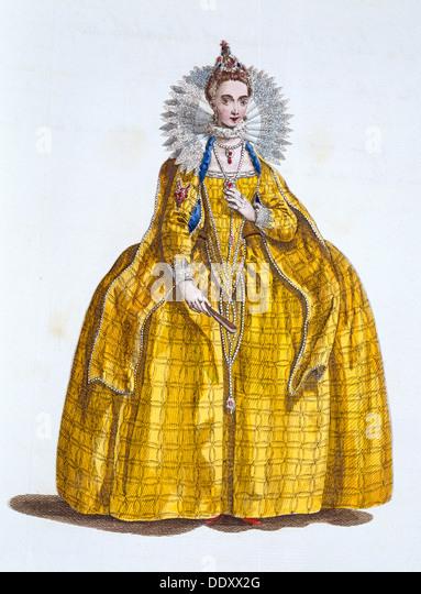 Elizabeth I, Queen of England, (19th century). - Stock-Bilder
