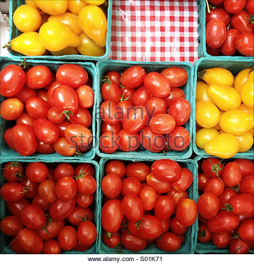 Cherry tomatoes - Stock Image