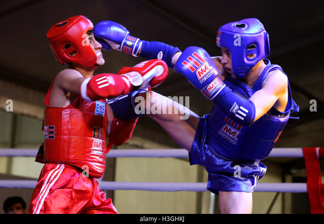 Jakarta, Indonesia. 8th Oct, 2016. muay thai one of the sports that competed in the 6th TAFISA World Sport for All - Stock Image