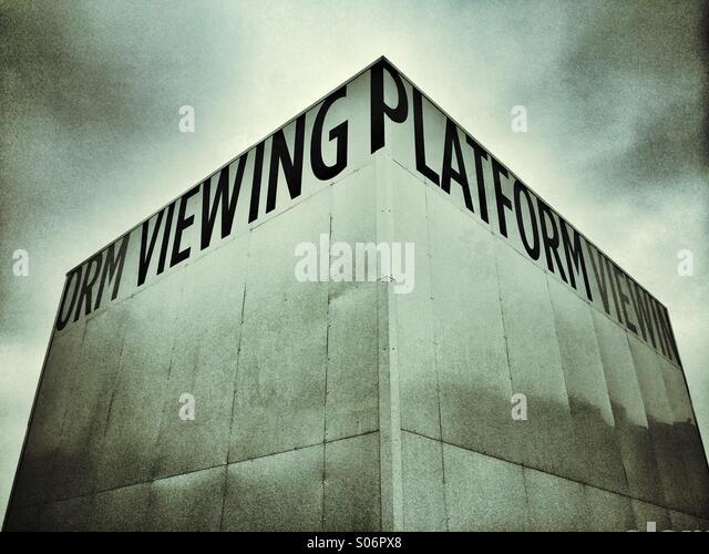 A Viewing Platform at Kings Cross, London - Stock Image