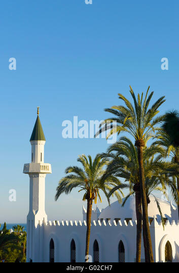 King Abdul Aziz Mosque or Marbella Mosque Costa del Sol, Spain - Stock Image