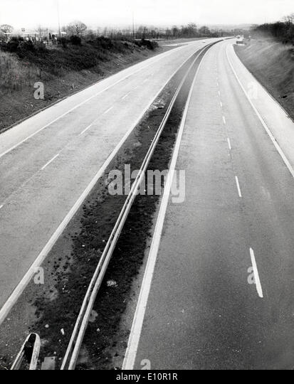 Empty highways in England during war - Stock Image
