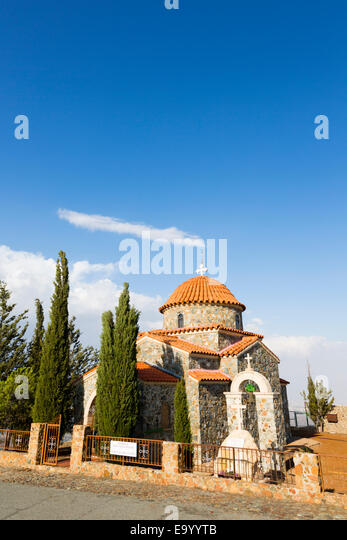 All Saints Chapel, Stavrovouni Monastery, Cyprus - Stock Image