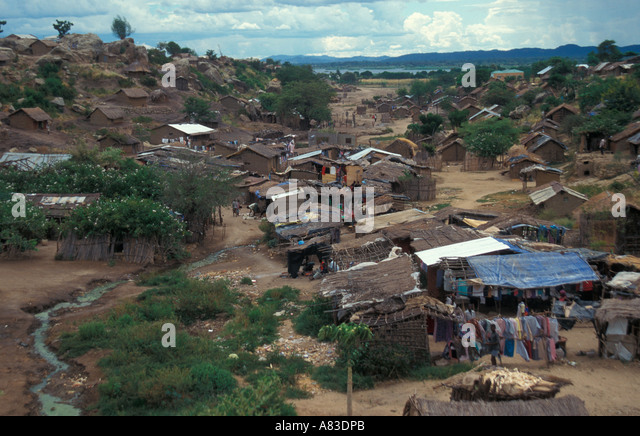 The small city of Tete Mozambique Africa - Stock Image