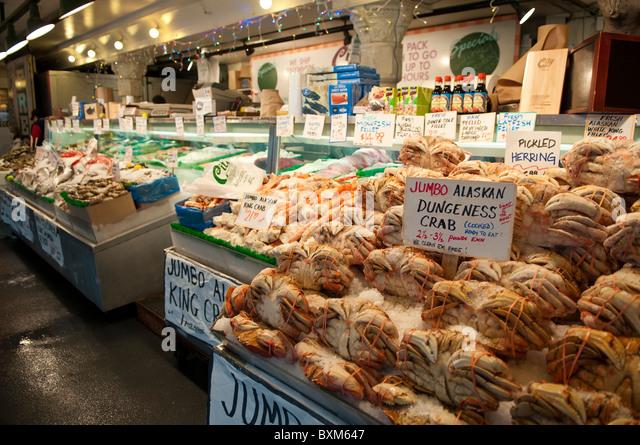 Seattle fish market throw stock photos seattle fish for Fish market in seattle