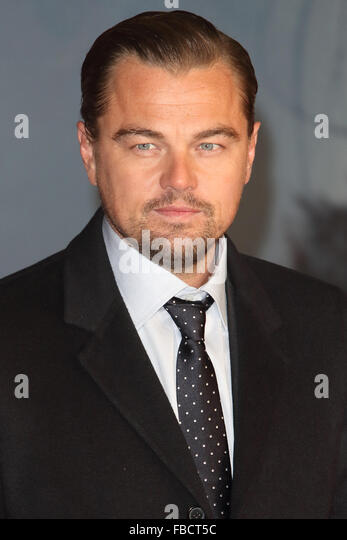 London, UK. 14th January, 2016. Leonardo di Caprio at the UK Premiere of 'The Revenant' at the Empire Leicester - Stock Image