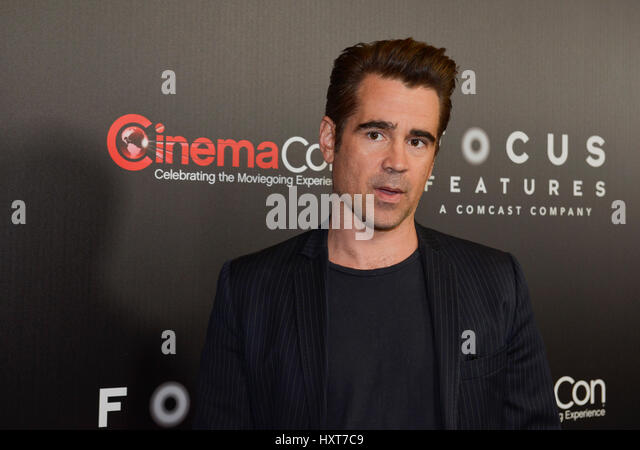 Las Vegas, NV, USA. 29th Mar, 2017. Colin Ferrell at Cinema Con 2017 Focus Features Luncheon and Studio Presentation - Stock Image
