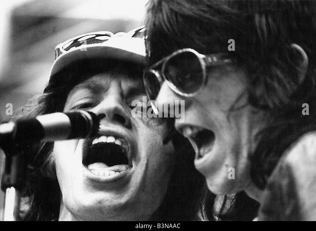 ROLLING STONES Mick Jagger and Keith Richards about 1980 - Stock-Bilder
