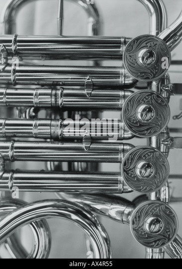 Close up of a French horn - Stock-Bilder
