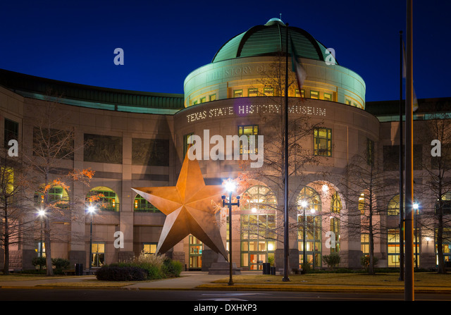The Bullock Texas State History Museum, located in downtown Austin, Texas - Stock Image