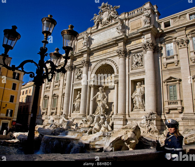 trevi, fountain, rome, italy - Stock Image