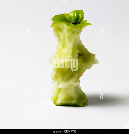 An apple core - Stock Image