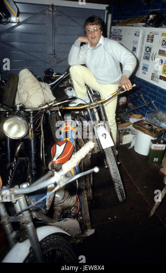 OLLE NYGREN  Varg-Olle Swedish former International Speedway rider who reached the finals of the Speedway World - Stock Image