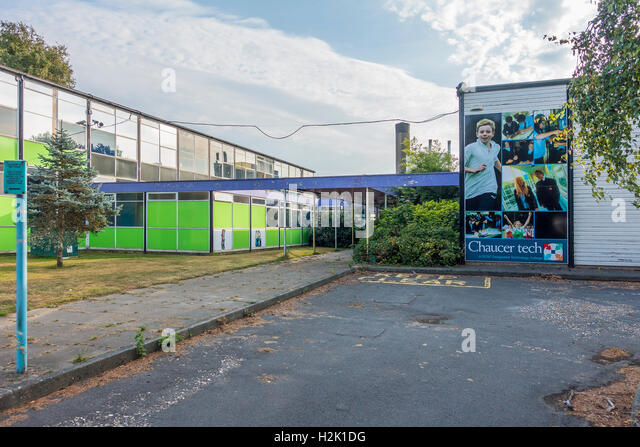 Chaucer Technology School Chaucer Tech Closed School Canterbury Kent - Stock Image