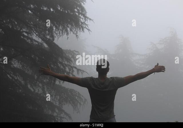 Feel your soul from deep inside - Stock Image