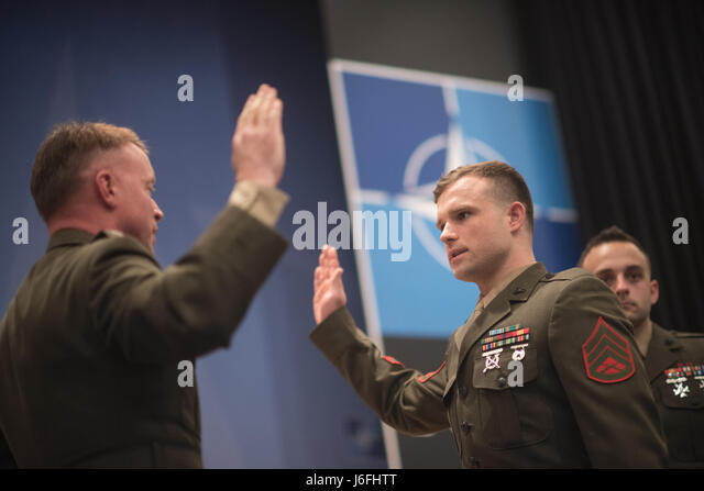 U.S. Marine Col. Philippe Rogers, U.S. Military Delegation to the North Atlantic Treaty Organization (NATO) Chief - Stock Image