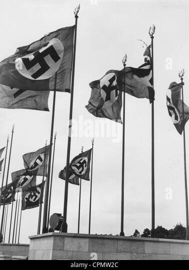 Rows of flags in Nuremberg - Stock-Bilder