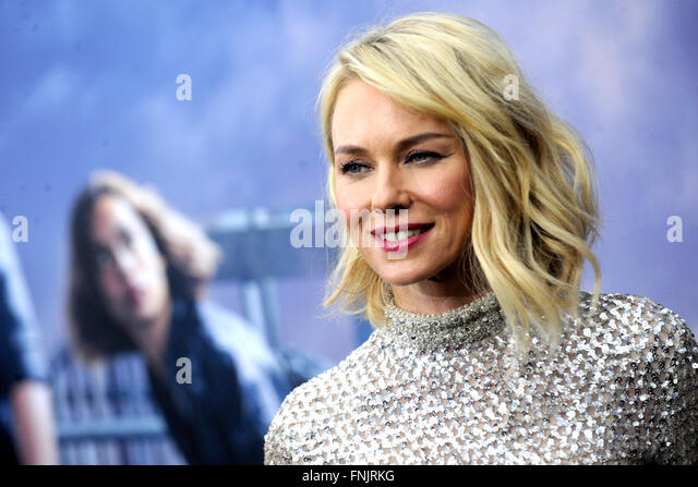 New York City. 14th Mar, 2016. Naomi Watts attends the 'Allegiant' New York premiere at AMC Lincoln Square - Stock Image