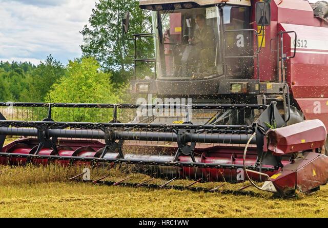 Inside Of A Combine : Inside combine harvester stock photos