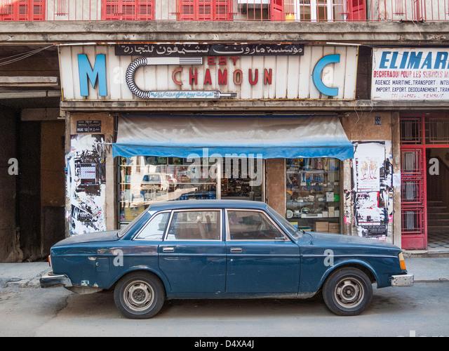 beirut street in lebanon - Stock Image