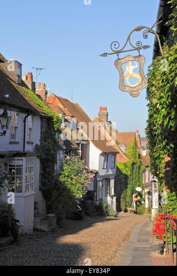 The Mermaid Inn, Mermaid Street, Rye, East Sussex, UK - Stock Image
