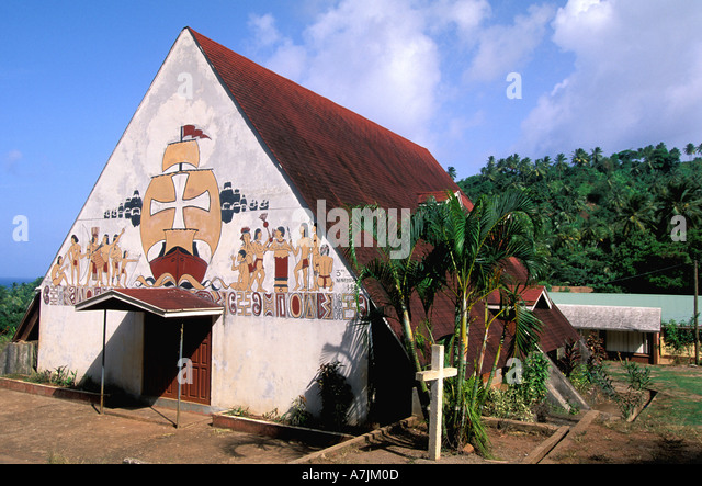 Dominica West Indies Caribbean Carib Reserve Catholic Church at Salybia - Stock Image