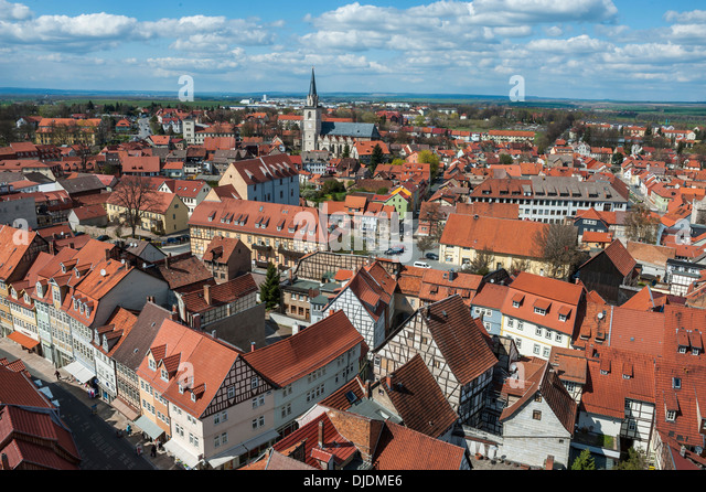 Historical centre of Bad Langensalza, Thuringia, Germany - Stock Image
