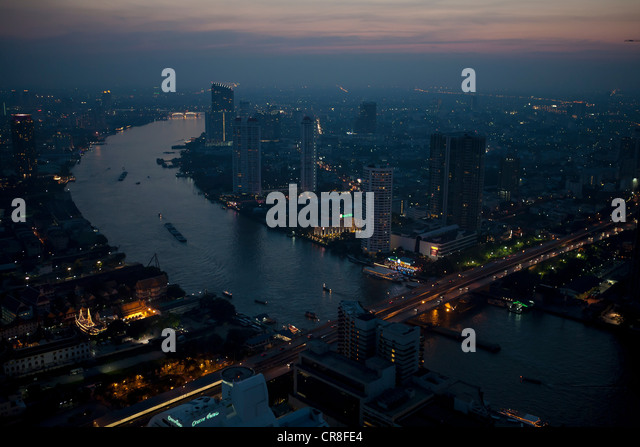 High angle view of Bangkok, Thailand - Stock Image