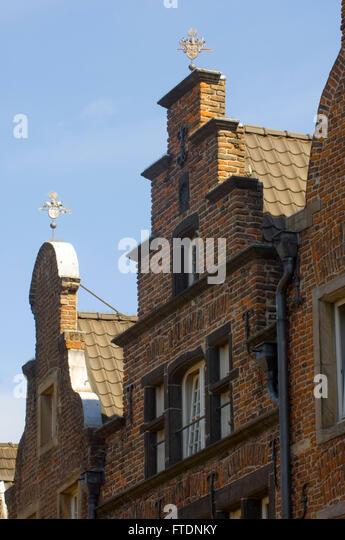 Deutschland, NRW, Neuss, Architektur in der Michaelstrasse - Stock-Bilder