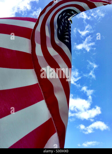 American flag in a summer breeze. - Stock-Bilder
