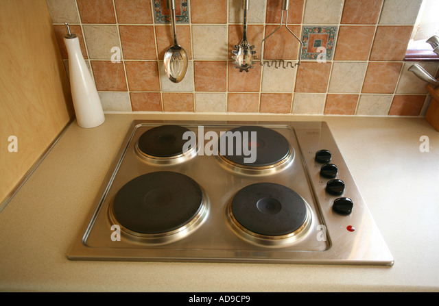 Old Fashioned Kitchen Hob ~ Electric cooker stock photos