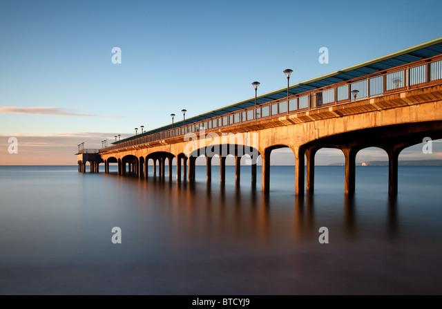 Boscombe Pier Sunrise - Stock Image
