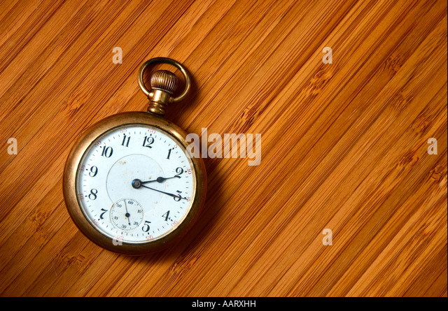 Antique pocket watch - Stock Image