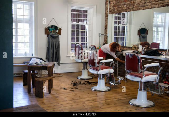 old style hair salon stock photos old style hair salon stock images alamy. Black Bedroom Furniture Sets. Home Design Ideas