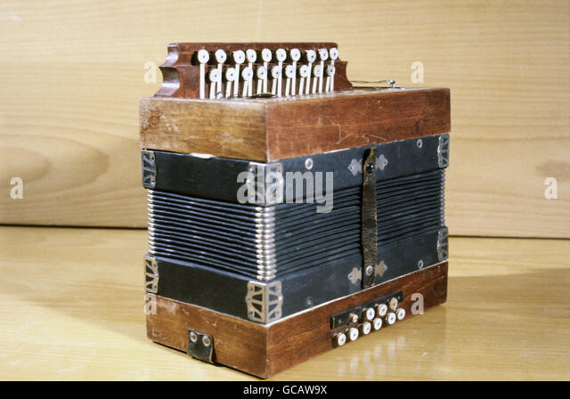 Historical Accordion by Hohner - Stock Image