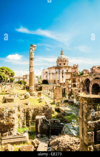 Ruins of the Roman Forum - Stock Image