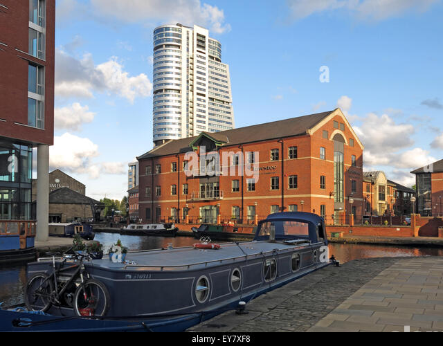 Leeds Wharf Lock, City Centre, West Yorkshire, England, UK (Leeds / Liverpool Canal) - Stock Image