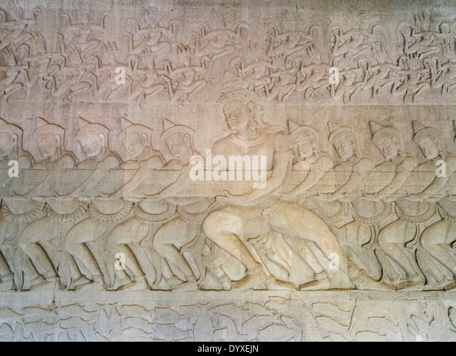 Cambodia sandstone army stock photos