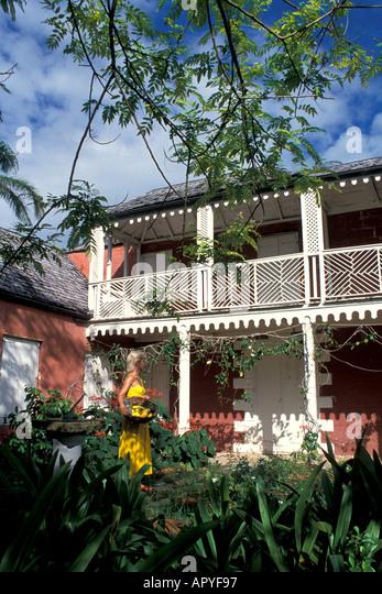Antigua Old Plantation Great House at Parham - Stock Image