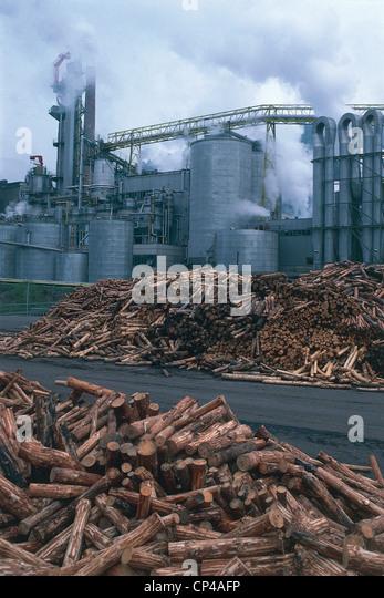 Austria - Carinthia. Paper industry - Stock-Bilder